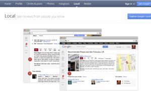 Google+ Places Home