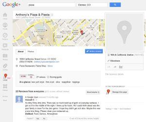 Google+ Places Page